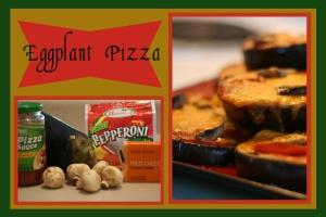 eggplant pizza label copy